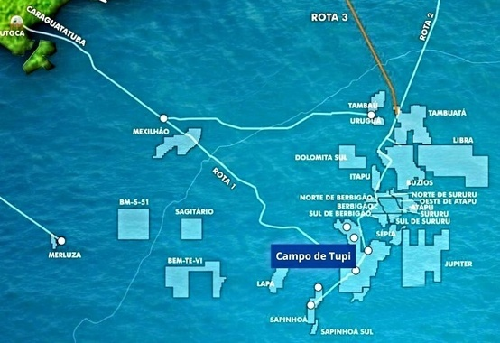 Tupi field in the pre-salt in the Santos Basin reaches 2 billion barrels of oil equivalent (boe)