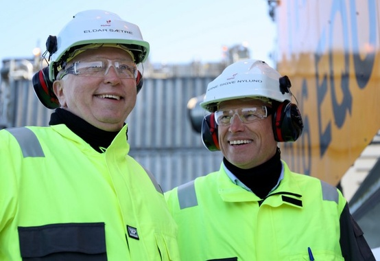 The Norwegian prime minister opened the Johan Sverdrup field today
